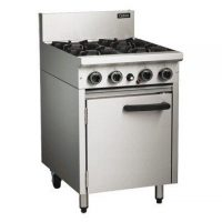 Blue Seal CR6D Gas 600mm 4 Burner Static Oven