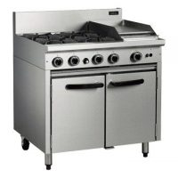Blue Seal Cobra CR9C Gas 4 Burner/300mm Griddle/Static Oven