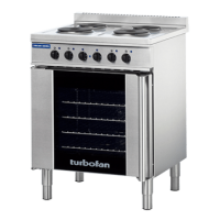 Blue Seal Turbofan Electric Convection Oven and Cooktop E931M