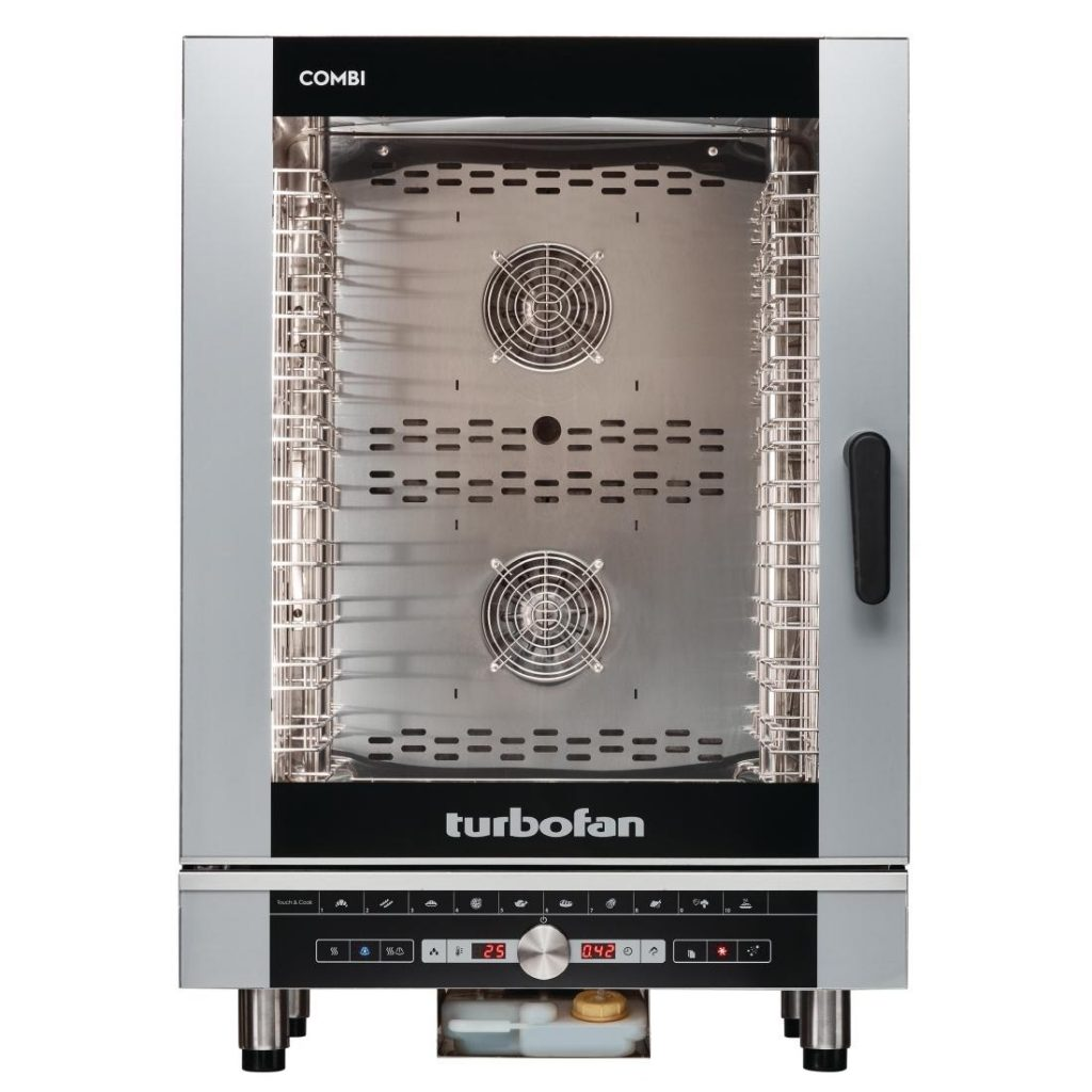 Blue Seal EC40D10 Turbofan Digital 10 Grid Electric Combination Steamer Oven