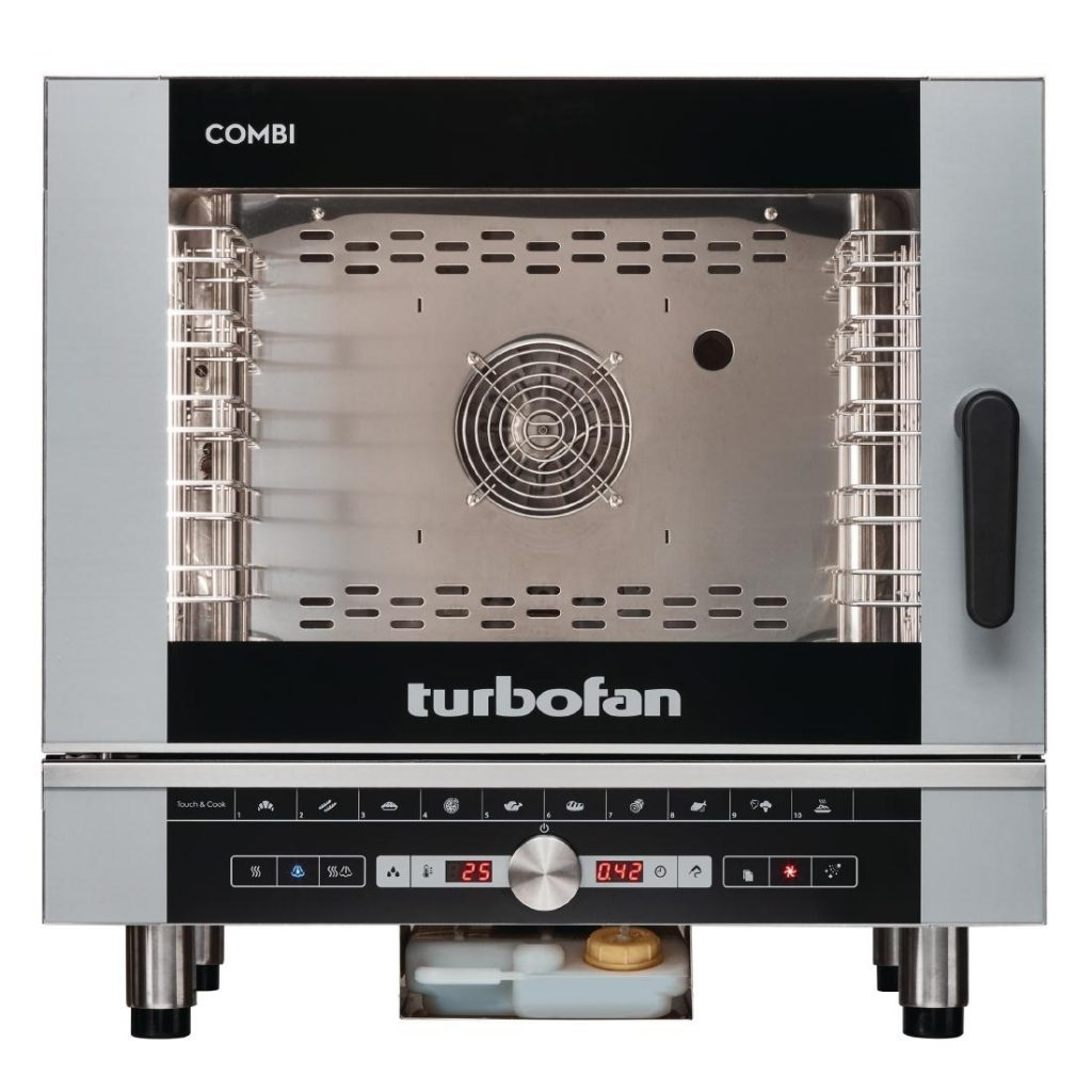 Blue Seal EC40D5 Turbofan Digital 5 Grid Electric Combination Steamer Oven