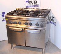 Electrolux commercial natural gas 6 burner oven.