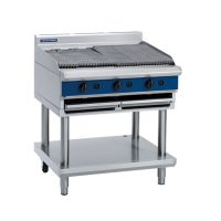 Blue Seal 900mm Gas Chargrill G596-LS - Leg Stand