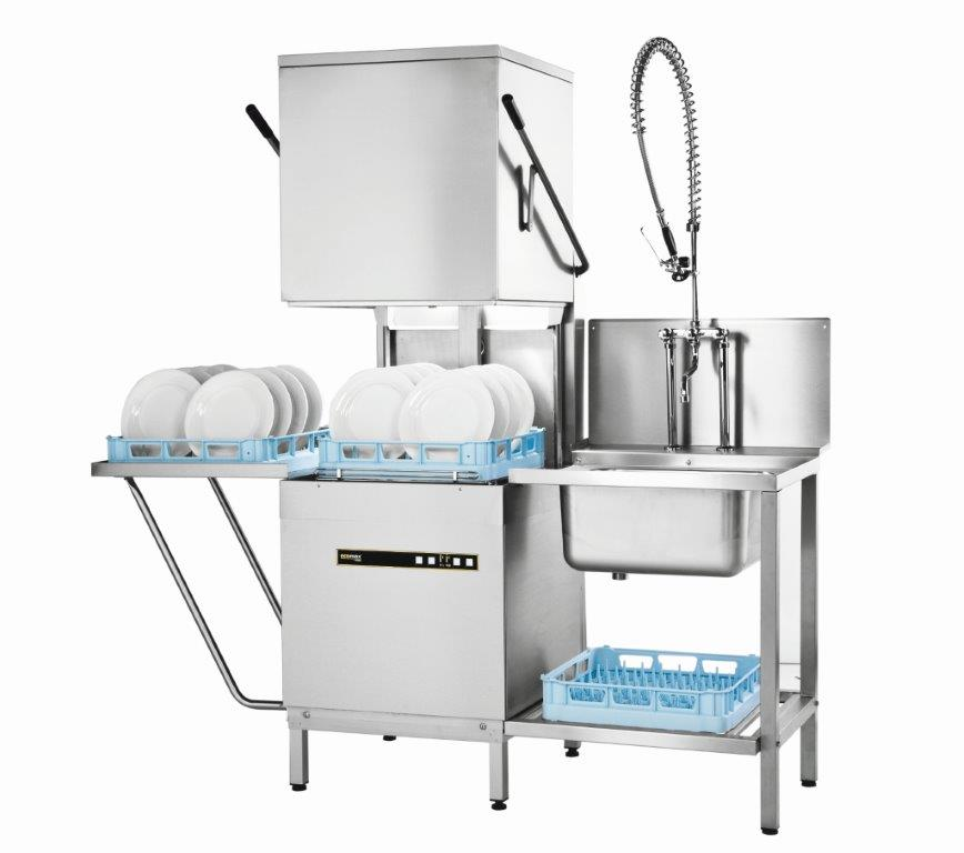 Hobart H602s Ecomax Hood Dishwasher With Drain Pump And Water Softener