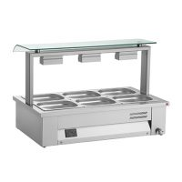 INOMAK Counter Top Bain Marie with Sneeze Guard MEV614