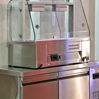 INOMAK Counter Top Gastronorm Bain Marie with Glass Display Case MBV614