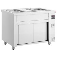 INOMAK Freestanding Gastronorm Bain Marie with Heated Storage Base MHV714
