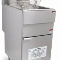 Infernus LPG Gas Single Tank, Twin Basket Fryer