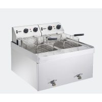 Parry NPDF3 Electric Twin Tank Countertop Fryer