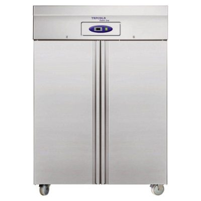Tefcold 2 Door Upright Freezer Stainless Steel RF1010