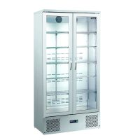 BLIZZARD BAR20SS Upright Stainless Steel Double Bottle Cooler 417L