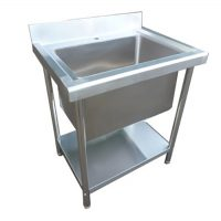 Stainless Steel 780mm Single Deep Bowl Commercial Sink
