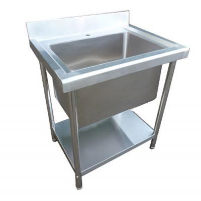Stainless Steel 780mm Single Deep Bowl Sink