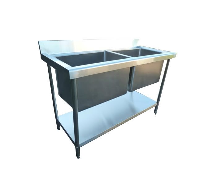 Stainless Steel 1400mm Double Deep Bowl Sink